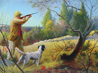 """Vintage 1949 Art Print Litho A Day In The Field"""" Artist Darling 5332 C. MOSS"""