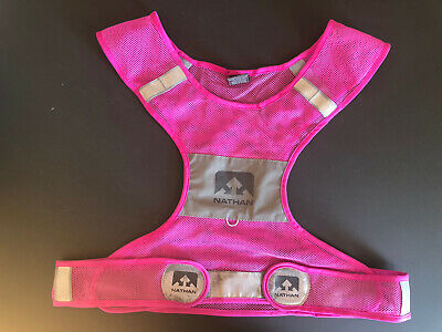 NIB Nathan Streak Reflective Safety Vest Size S//M SMALL MEDIUM Running Cycling
