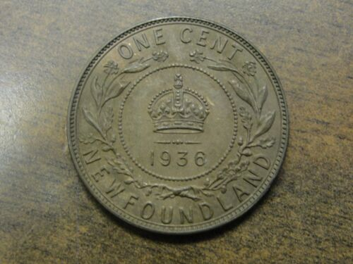 1936 Newfoundland Canada King George V Large Cent Bronze Coin
