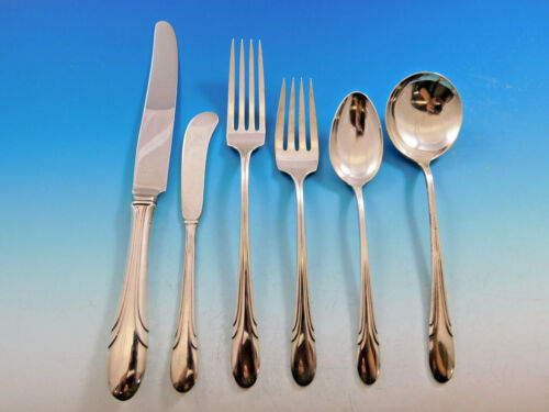 Symphony By Towle Sterling Silver Flatware Set For 8 Service 51 Pieces Art Deco
