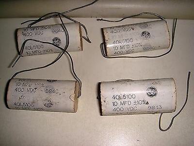 4 Pieces General Electric 40l5100 10uf 400v Snubber Capacitor