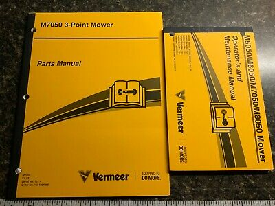 Vermeer 3- Point Mower Parts Maintenance Operators Manual