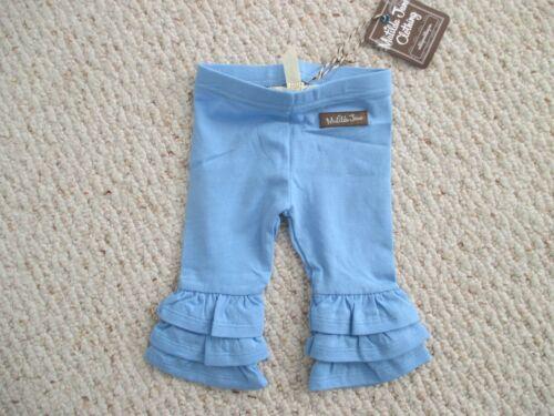 Matilda Jane Blue Triple Ruffle Pants Size 0-3 Months NWT
