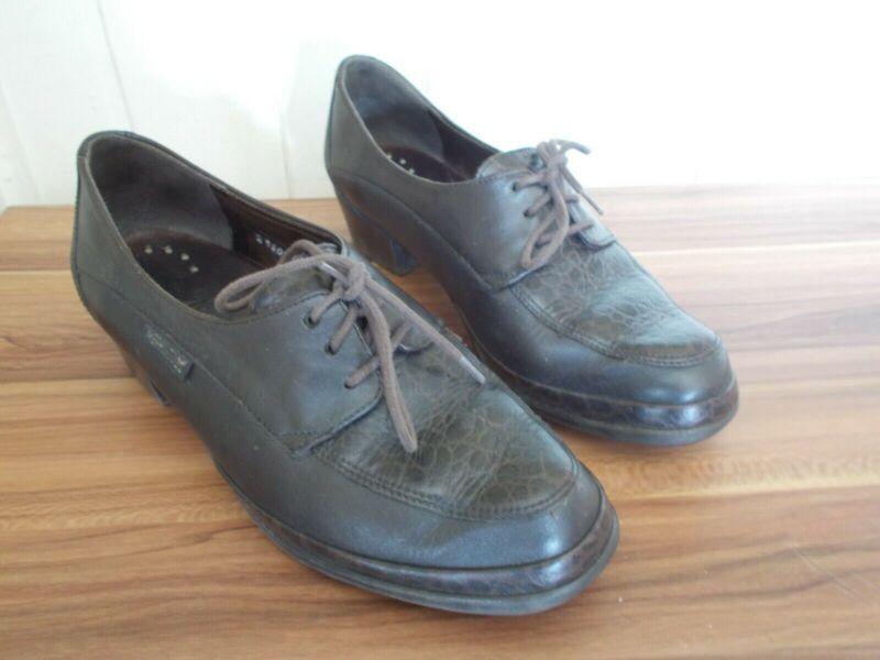Détails sur Chaussures mocassins à lacets MEPHISTO 37FR 4EU 6.5US AIR JET petit talon cuir