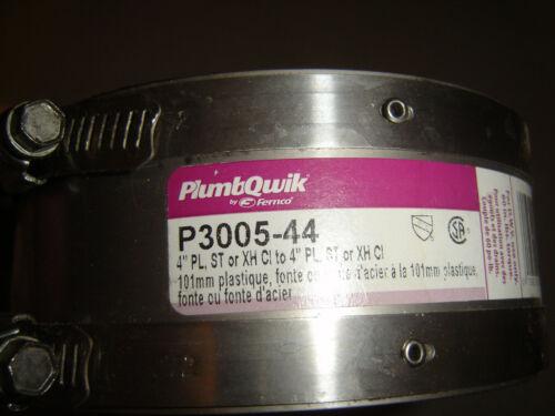 Fernco P3005-44, PlumbQwik 4 in. Neoprene Shielded Coupling