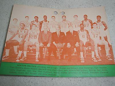 BOSTON CELTICS  1967-68 World Champion NBA Basketball Shoe Tag w/ Team (Nba Celtics Basketball Shoe)