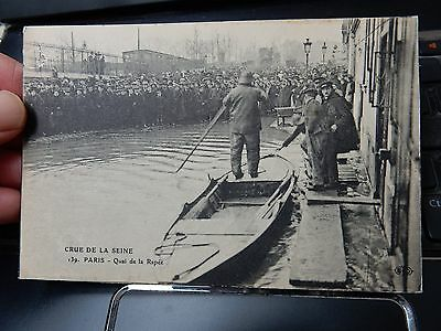 SUPERB SEINE FLOOD   POSTCARD PARIS  CRUE  A