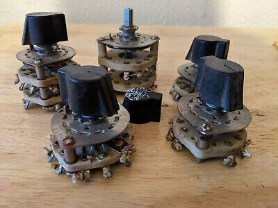 Vintage Ceramic Rotary Switches Lot Of 5 Ham Radio