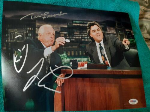 LA Dodgers Tommy LaSorda & Jay Leno autographed 11x14 photo PSA DNA Certified