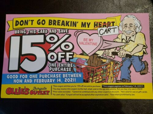 Ollie s Coupon 15  - $1.25
