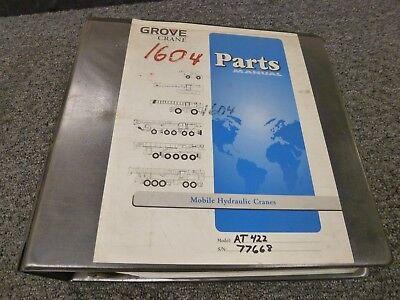 Grove Model At422 Hydraulic All Terrain Mobile Crane Parts Catalog Manual