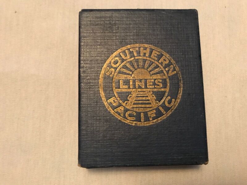 VINTAGE BOXED SOUTHERN PACIFIC LINES PLAYING CARDS 54 CARDS GOOD SHAPE