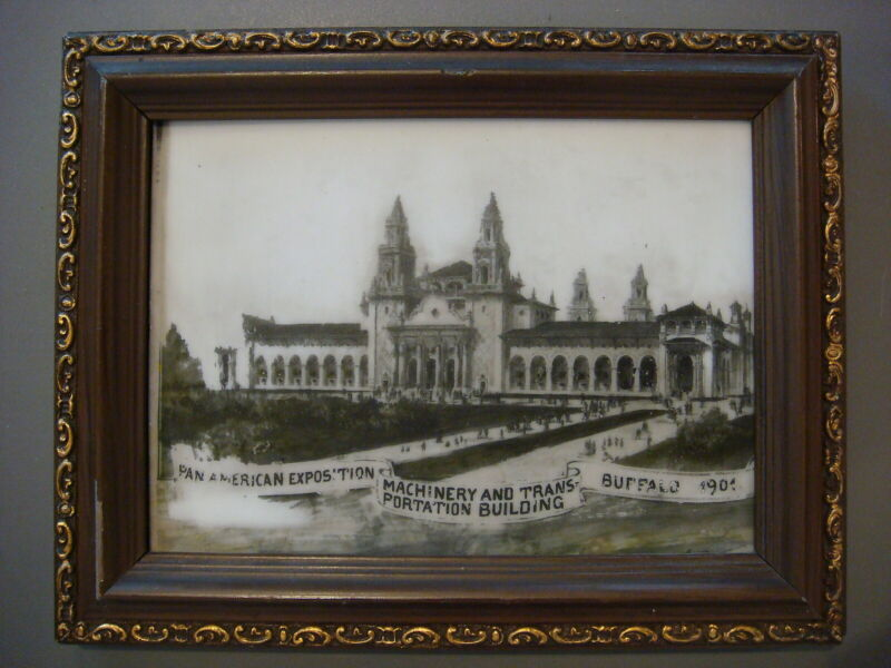 Framed Ceramic - Machinery and Transportation Bldg Pan American Expo (FREE SHIP)