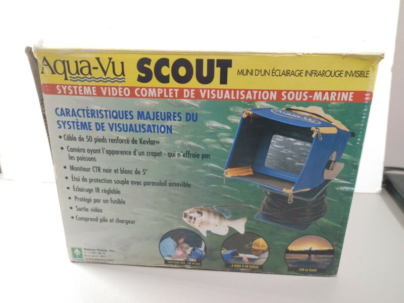 Aqua-VU AVSCT Complete Underwater Video Viewing System 50ft Cable, TESTED!