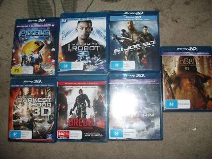 assorted 3d bluray movies