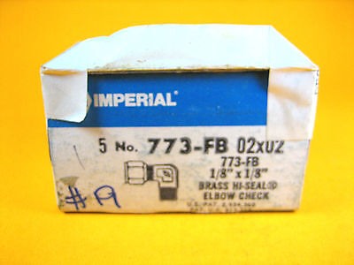 Imperial Eastman - 773-fb 02x02 - Brass Hi-seal Elbow Check 18x18 Box Of 5