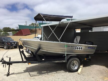 2010 SAVAGE DINGHIE WITH  15 HORSE 2 STROKE OUTBOARD
