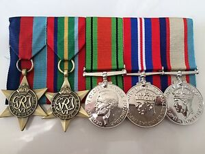 5 Set WW2 WWII Australian Medals (repo) Court Mount Bruce Belconnen Area Preview