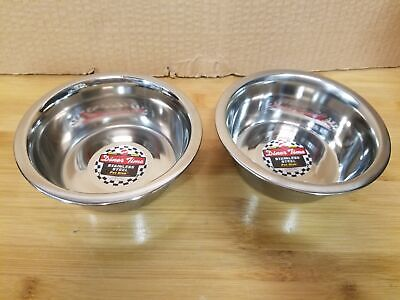 Set of 2 Stainless Steel Mirror Pet Dish, No. 6060, by Ethical Products Inc Stainless Steel Mirror Pet Dish