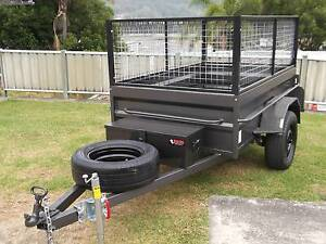 Aust 7x4 H/D Box Cage Trailer - Rhino Toolbox Jockey Leds Spare. Yennora Parramatta Area Preview