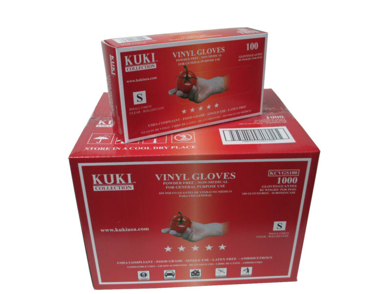 Disposable Vinyl Gloves - Small - Case of 1000 - Kuki Collection