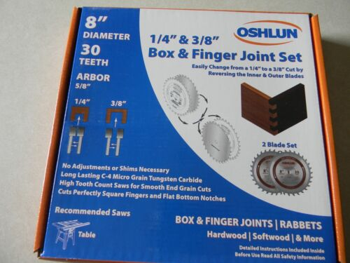 """Oshlun  8"""" Box and Finger Joint Set SBJ-0830 (9-6)"""