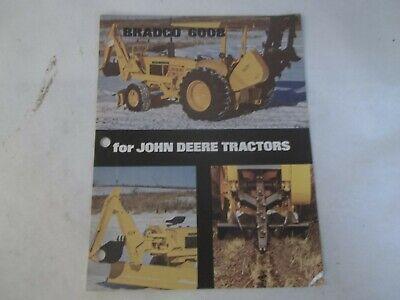 Bradco 600b Trencher For John Deere Tractors Brochure
