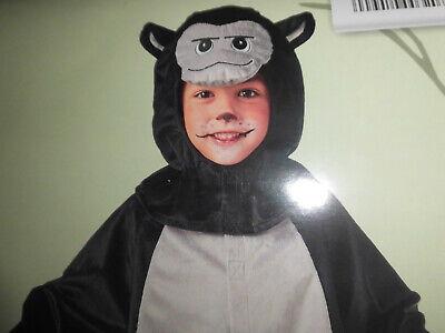 Gorilla Kostüm Overall Plüschkostüm Affe NEU Gr. 98 - Plüsch Affe Kostüme