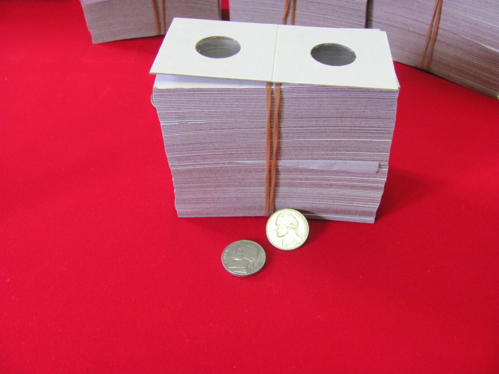 """100- Assorted Size- 2X2 """"COWENS"""" -Cardboard/Mylar Coin Holders- Free shipping!"""