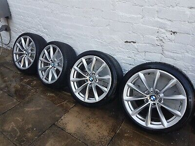 """Set 4 Genuine 296 BMW Z4 19"""" Alloy Wheels 3 Series E90 E91 E92 E93 Tyres 225 255"""