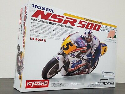 New Kyosho 1/8 R/C Honda NSR500 1991 Motorcycle Kit EP Hanging On Racer 3021