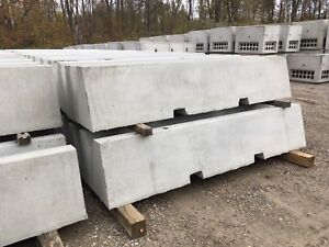 Concrete blocks for use with heavy machinery