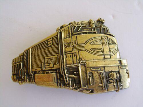 Belt Buckle Diesel Engine Train Rare 1980 Solid Brass New NOS Baron Maker