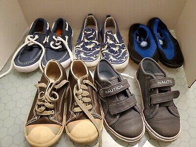 Lot 5x Boys Child Shoes Size 10 10.5 & 11 Morgan Milo Nautica Gap Route 66 Water