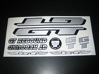 GT Rebound Stickers Red Black /& Silver.