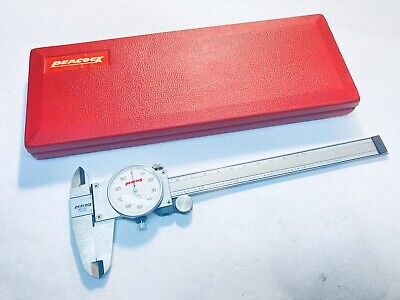 Peacock 20-435 6 Dial Caliper With Case .001 - Japan - Nice
