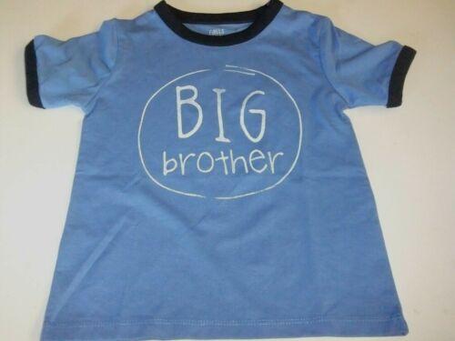 NWT Toddler Boys 18, 24 Mo, 2T, 3T, BIG BROTHER Shirt Blue Short Sleeves