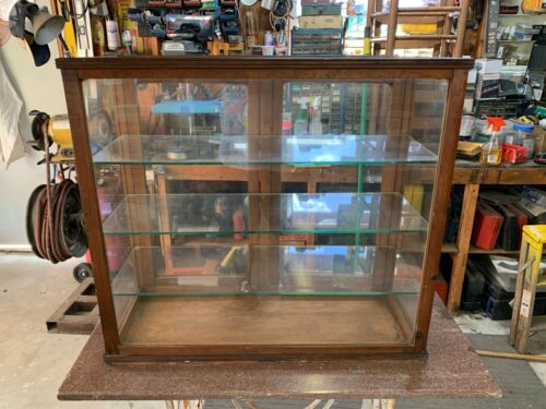Antique Glass Table Top Display Case