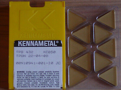 10 Pcs. Tpg 432  Kennametal Kc850 Carbide Inserts