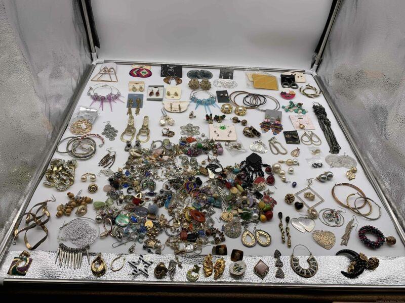 4.6 lbs Grab Bag Bulk Lot of Earring Jewelry