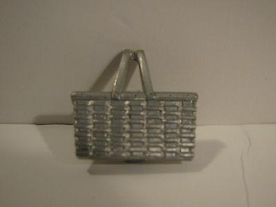 Longaberger Pewter Magnet - Market Basket