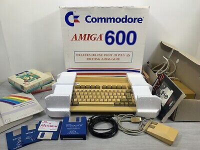 Commodore Amiga 600 Console BOXED COMPLETE + Extras TESTED WORKING