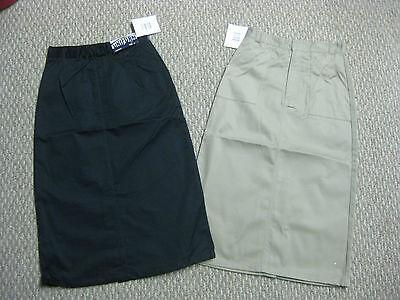 Girls Uniform (Girls juniors skirt Uniform Khaki Navy Blue 7 8 10 12 14 16 18 20 1/2 school)