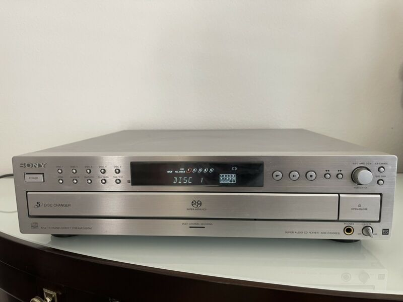 Sony SCD-C2000ES 5-disc CD/Super Audio CD Player. Tested.Working Condition