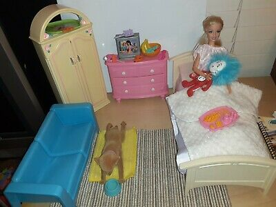 Barbie 1/6 Play Scale Bedroom accessories Dresser Closet Doll House Furniture