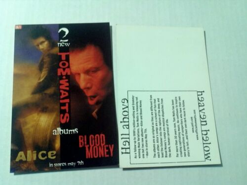 TOM WAITS - blood money / Alice POSTCARD vintage post card ANTI- records