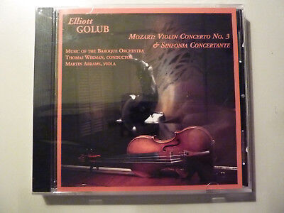Still Sealed  Cd By Elliott Golub   Mozart  Violin Concerto No  3