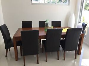 Dinner table + 8 chairs Woolooware Sutherland Area Preview