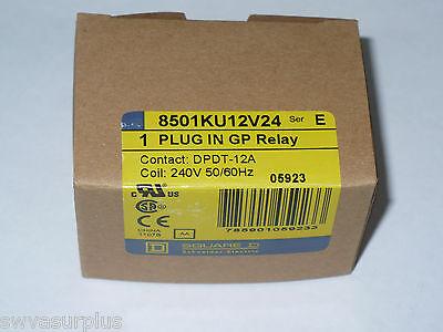Square D 8501ku12v24 General Purpose Relay 240 Volt Coil New