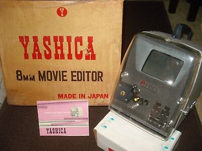 Vintage Yashica 8mm Movie Editor Movie Film Editor & Manual / Instruction Japan
